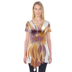 Sea Anemone Short Sleeve Tunic  by Mariart