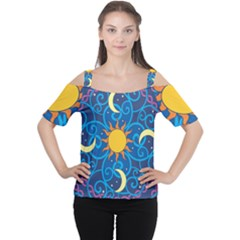Sun Moon Star Space Vector Clipart Cutout Shoulder Tee by Mariart