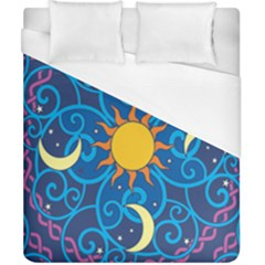 Sun Moon Star Space Vector Clipart Duvet Cover (california King Size) by Mariart