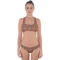 Surface Patterns Bright Flower Floral Sunflower Cross Back Hipster Bikini Set by Mariart