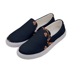 Floral Vintage Royal Frame Pattern Women s Canvas Slip Ons by BangZart