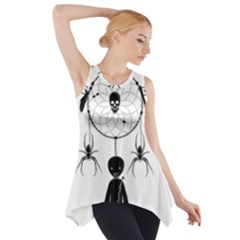 Voodoo Dream Catcher  Side Drop Tank Tunic by Valentinaart