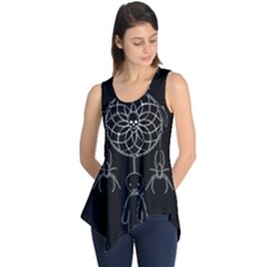 Voodoo Dream Catcher  Sleeveless Tunic by Valentinaart