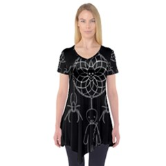 Voodoo Dream Catcher  Short Sleeve Tunic  by Valentinaart