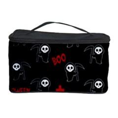 Death Pattern   Halloween Cosmetic Storage Case by Valentinaart