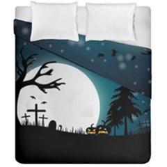 Halloween Landscape Duvet Cover Double Side (california King Size) by Valentinaart