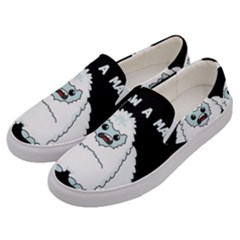 Yeti   I Saw A Man Men s Canvas Slip Ons by Valentinaart