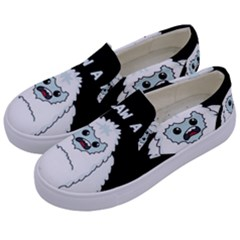 Yeti   I Saw A Man Kids  Canvas Slip Ons by Valentinaart