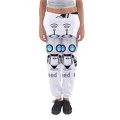 Cute Robot Women s Jogger Sweatpants by Valentinaart