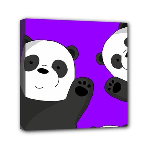 Cute Pandas Mini Canvas 6  X 6  by Valentinaart