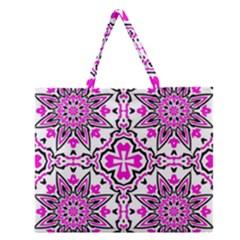 Oriental Pattern Zipper Large Tote Bag by BangZart