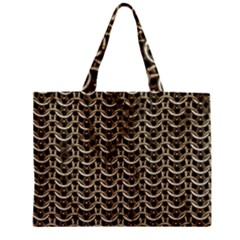 Sparkling Metal Chains 01a Zipper Mini Tote Bag by MoreColorsinLife