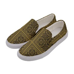 Seamless Pattern Design Texture Women s Canvas Slip Ons by BangZart