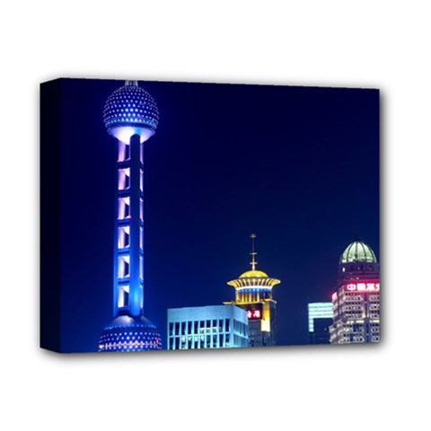 Shanghai Oriental Pearl Tv Tower Deluxe Canvas 14  X 11  by BangZart