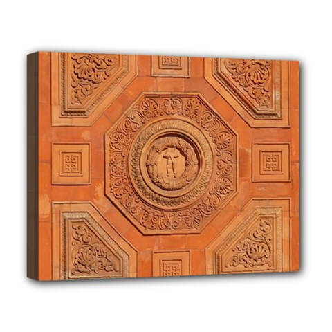Symbolism Paneling Oriental Ornament Pattern Deluxe Canvas 20  X 16   by BangZart
