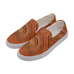 Symbolism Paneling Oriental Ornament Pattern Women s Canvas Slip Ons by BangZart