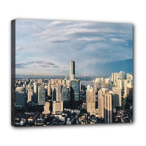 Shanghai The Window Sunny Days City Deluxe Canvas 24  X 20   by BangZart