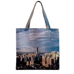 Shanghai The Window Sunny Days City Zipper Grocery Tote Bag by BangZart