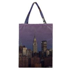 Skyline City Manhattan New York Classic Tote Bag by BangZart