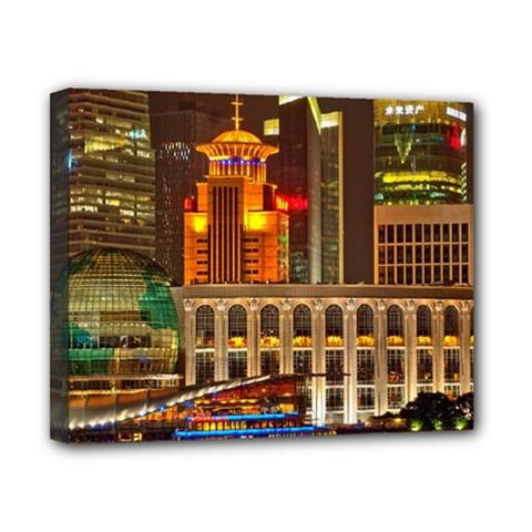 Shanghai Skyline Architecture Canvas 10  X 8