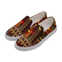 Shanghai Skyline Architecture Women s Canvas Slip Ons by BangZart