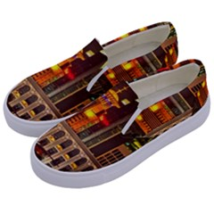 Shanghai Skyline Architecture Kids  Canvas Slip Ons by BangZart