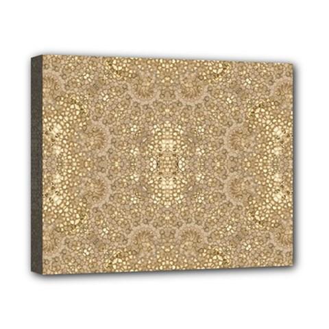 Ornate Golden Baroque Design Canvas 10  X 8  by dflcprints