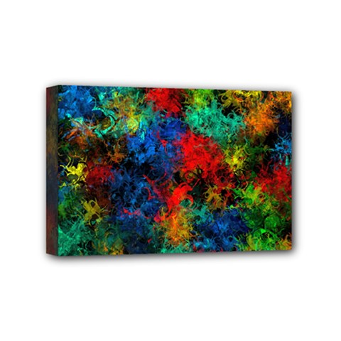 Squiggly Abstract A Mini Canvas 6  X 4  by MoreColorsinLife