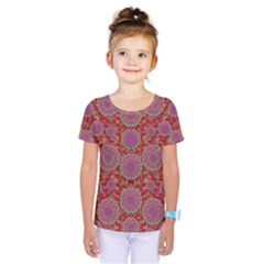 Hearts Can Also Be Flowers Such As Bleeding Hearts Pop Art Kids  One Piece Tee by pepitasart