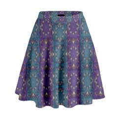 Retro Vintage Bleeding Hearts Pattern High Waist Skirt by pepitasart