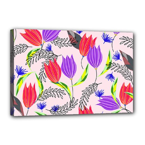 Floral Paradise Canvas 18  X 12  by allgirls
