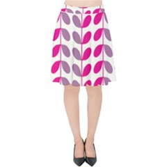 Pink Waves Velvet High Waist Skirt by allgirls