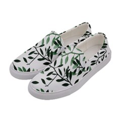 Botanical Leaves Women s Canvas Slip Ons by allgirls