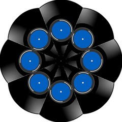 Vinyl Record Hook Handle Umbrellas (small) by Photozrus