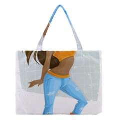 Sexy Woman Medium Tote Bag by Photozrus