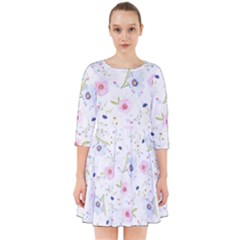 Floral Cute Girly Pattern Smock Dress