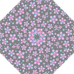 Seamless Pattern Purple Girly Floral Pattern Folding Umbrellas by paulaoliveiradesign