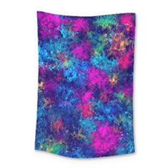 Squiggly Abstract E Small Tapestry by MoreColorsinLife