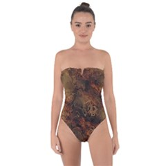 Wonderful Marbled Structure A Tie Back One Piece Swimsuit