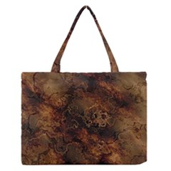 Wonderful Marbled Structure A Zipper Medium Tote Bag by MoreColorsinLife