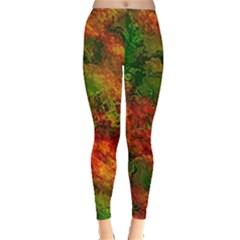 Wonderful Marbled Structure F Leggings  by MoreColorsinLife