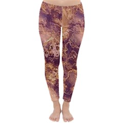 Wonderful Marbled Structure I Classic Winter Leggings by MoreColorsinLife
