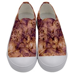 Wonderful Marbled Structure I Kids  Low Top Canvas Sneakers