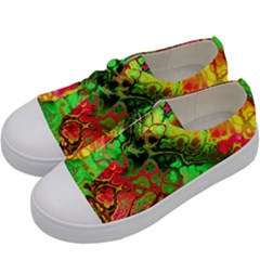 Awesome Fractal 35i Kids  Low Top Canvas Sneakers by MoreColorsinLife