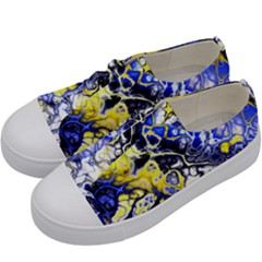 Awesome Fractal 35a Kids  Low Top Canvas Sneakers by MoreColorsinLife