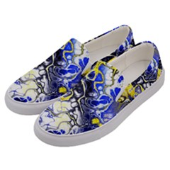 Awesome Fractal 35a Men s Canvas Slip Ons by MoreColorsinLife