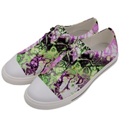 Awesome Fractal 35d Men s Low Top Canvas Sneakers by MoreColorsinLife