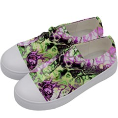 Awesome Fractal 35d Kids  Low Top Canvas Sneakers by MoreColorsinLife