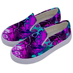 Awesome Fractal 35b Kids  Canvas Slip Ons by MoreColorsinLife