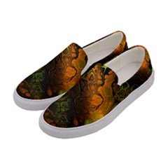 Awesome Fractal 35e Women s Canvas Slip Ons by MoreColorsinLife